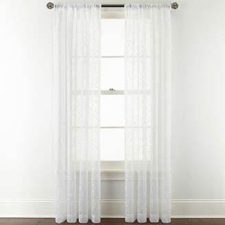 Royal Velvet Octavia Sheer Rod-Pocket Curtain Panel