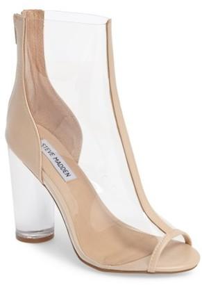 Women's Steve Madden Portal Clear Peep Toe Bootie $129.95 thestylecure.com