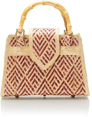 Couture Des Iles Rose Red Diamond Print Handbag