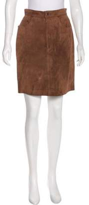 Polo Ralph Lauren Leather Knee-Length Skirt