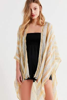 Urban Outfitters Textured Striped Ruana