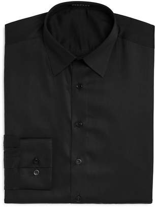 Vardama Astor Place Solid Stain Resistant Regular Fit Dress Shirt