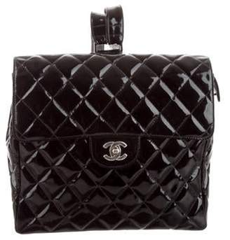 Chanel Quilted Patent Leather Backpack Black Quilted Patent Leather Backpack