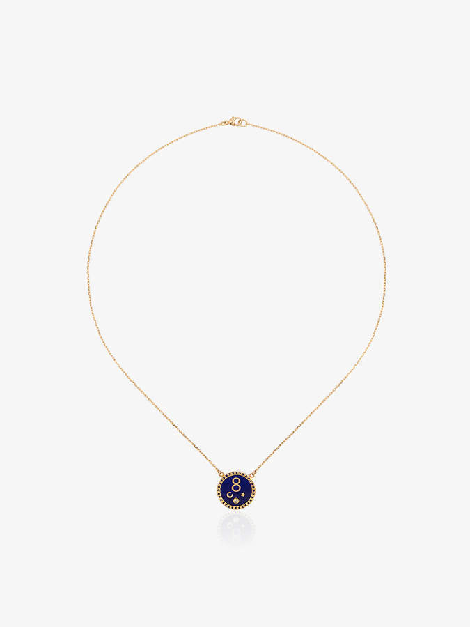 Foundrae karma petite champleve stationary necklace