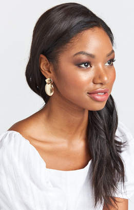Show Me Your Mumu Keep Up Earrings ~ Gold