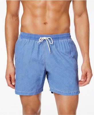 Barbour Men's Victor Slim-Fit Light Blue Swim Trunks $89 thestylecure.com