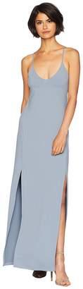 Susana Monaco Low V-Neck with Slit Dress Women's Dress