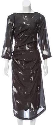 Dries Van Noten Silk Abstract Dress