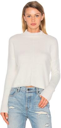 Line Eva Mock Neck Sweater $165 thestylecure.com