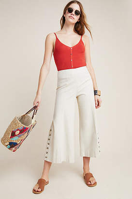 Anthropologie Buttoned Flare Pants