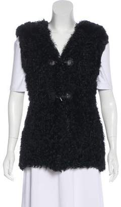 Jocelyn Hooded Fur Vest