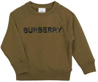 Burberry Derick Embossed Logo Sweatshirt, Size 3-14