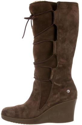 UGGUGG Australia Suede Knee-High Wedge Boots