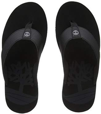 Timberland Men's Wild Dunes Flip Flops, Black (Black With Grey 001), (43 EU)