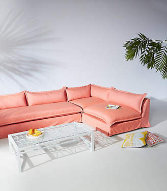 Anthropologie Tassa Indoor/Outdoor Three-Piece L-Shaped Sectional