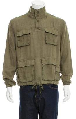 John Elliott Linen Pullover Jacket