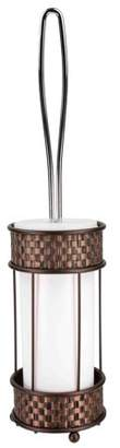Home Basics Weave Pattern Metal & Acrylic Bathroom Toilet Brush and Holder