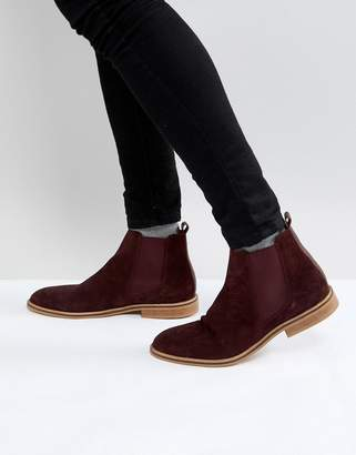 Good For Nothing Chelsea Boots In Burgundy Suede