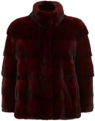 Lilly E Violetta 3⁄4-Length Sleeve Mink Fur Jacket