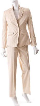 Paul Smith Pinstripe Pantsuit $75 thestylecure.com