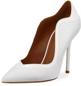 Malone Souliers Penelope Scalloped Leather Pumps