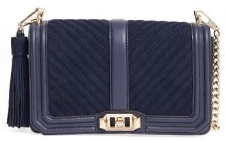 Rebecca Minkoff 'Chevron Quilted Love' Crossbody Bag - Blue $295 thestylecure.com