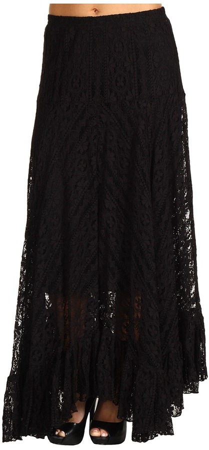 ABS Allen Schwartz - Lace Maxi Skirt (Black) - Apparel