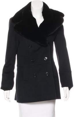 Burberry Wool & Cashmere Short Coat