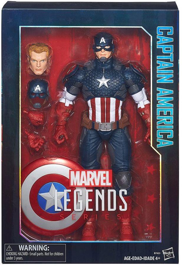 Hasbro Marvel Legends Series 12-in. Captain America Figure by Hasbro