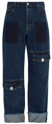 J.W.Anderson Button Fastening Flap Pocket Jeans - Mens - Blue