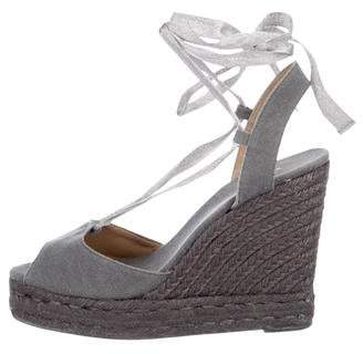 Castaner Wrap-Around Espadrille Wedges
