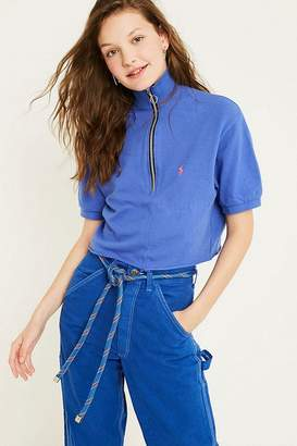 Urban Renewal Vintage Customised Polo Zip Funnel Neck Top