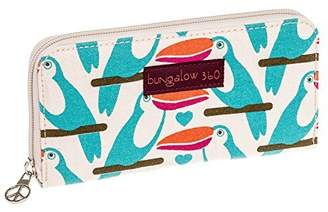 Bungalow 360 Bungalow360 Womens Canvas Large Zip-Around Wallet (Toucan)