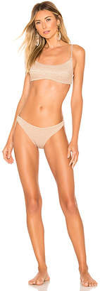 Zimmermann Wayfarer Metallic Scoop Bikini Set