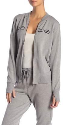 Bebe Rivet Logo Fleece Jacket