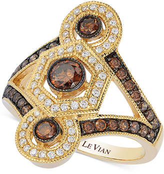 LeVian Le Vian Chocolatier Chocolate Deco Estate Gold Diamond (1-1/4 ct. t.w.) ring in 14k Gold