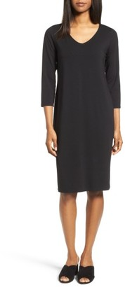 Women's Eileen Fisher Tencel Jersey Shift Dress $178 thestylecure.com