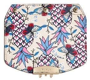 Furla MY PLAY Interchangeable Metropolis Mini Butterfly Print Leather Flap