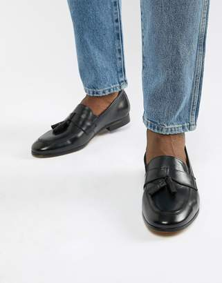 Dune Loafers In Black Hi-Shine