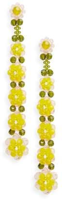 Simone Rocha Tiered Crystal Shoulder Duster Earrings