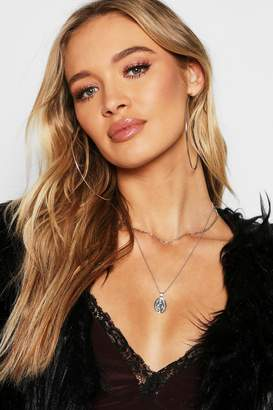 boohoo Sovereign And Chain Layer Necklace