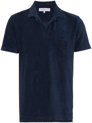 Orlebar Brown Navy terry polo shirt