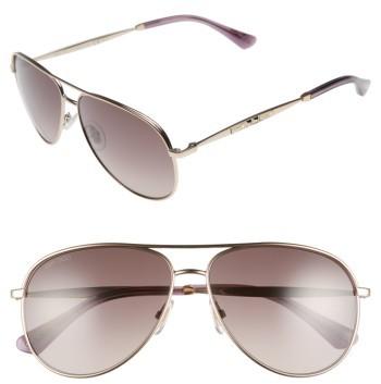 Jimmy ChooWomen's Jimmy Choo Jewlys 58Mm Aviator Sunglasses - Bronze