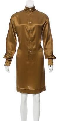 Saint Laurent Satin Knee-Length Dress