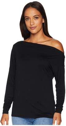 Three Dots Refined Jersey Off Shoulder Top Women's Clothing