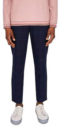 Ted Baker Izartro Windowpane Check Regular Fit Trousers