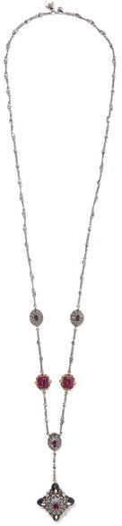 Alexander McQueenAlexander McQueen - Silver And Gold-tone, Swarovski Crystal And Faux Pearl Necklace - Brass