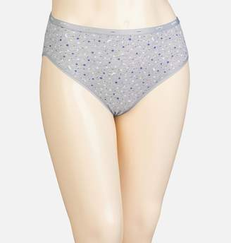 Avenue Moon and Stars Cotton Hi Cut Panty with Lace