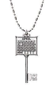 Swarovski Personalized Silvertone Calendar Key Pendant w/Chain $49.98 thestylecure.com