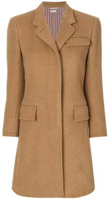 Thom Browne Classic Chesterfield Overcoat In Camel Hair